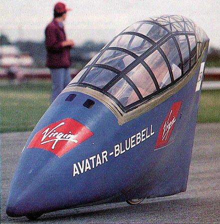 Vélo couché Avatar 2000 avec son carénage Blue Bell