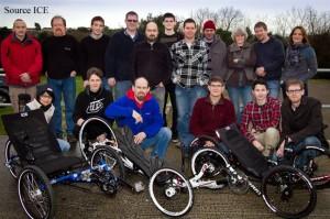 L'équipe du fabricant de tricycles couchés anglais ICE