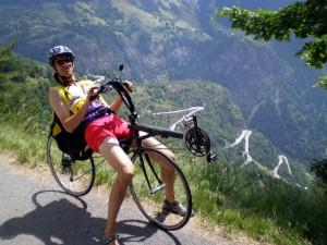 Route de l'Alpe d'Huez en vélo couché Metaphysic