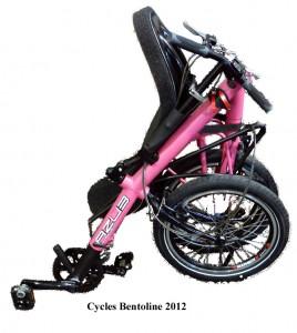 Nouveau vélo couché pliant 2012, l'Origami