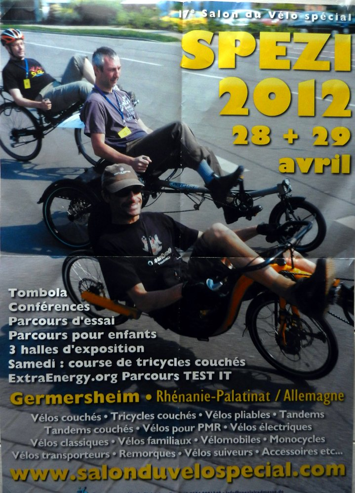 Salon 2012 du vélo couché SPEZI en Allemagne