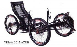 Tricycle couché pliant et suspendude la marque Tchèque AZUB