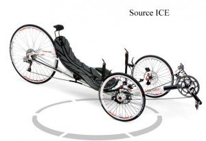 Le tricycle couché Vortex pour la vitesse et la compétition.