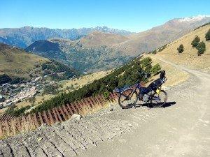 Montée du Col de Jandri à vélo couché traction directe