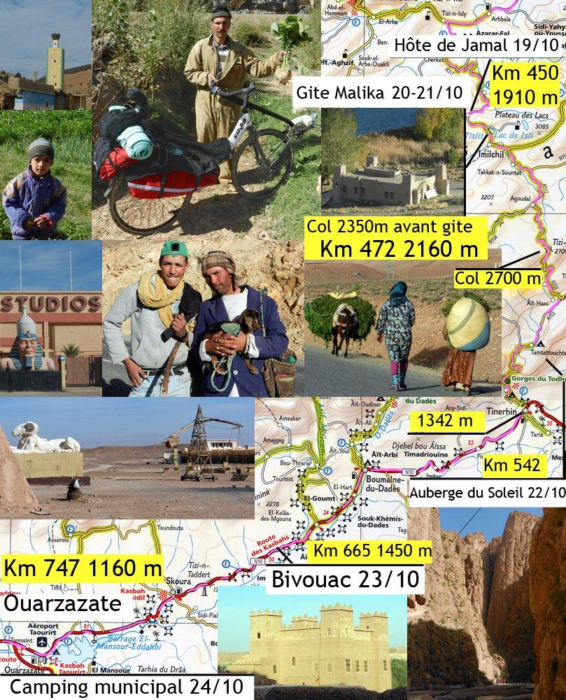 De la maison du Shériff (Nid de Cigogne) à 1850 m jusqu'au Camping d'Ouarzazate