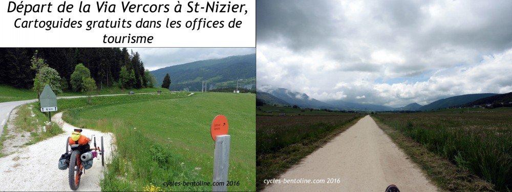La Voie verte est très accidentée entre Saint-Nizier et Lans-fortes côtes- puis plane jusqu'à Villard-de -Lans