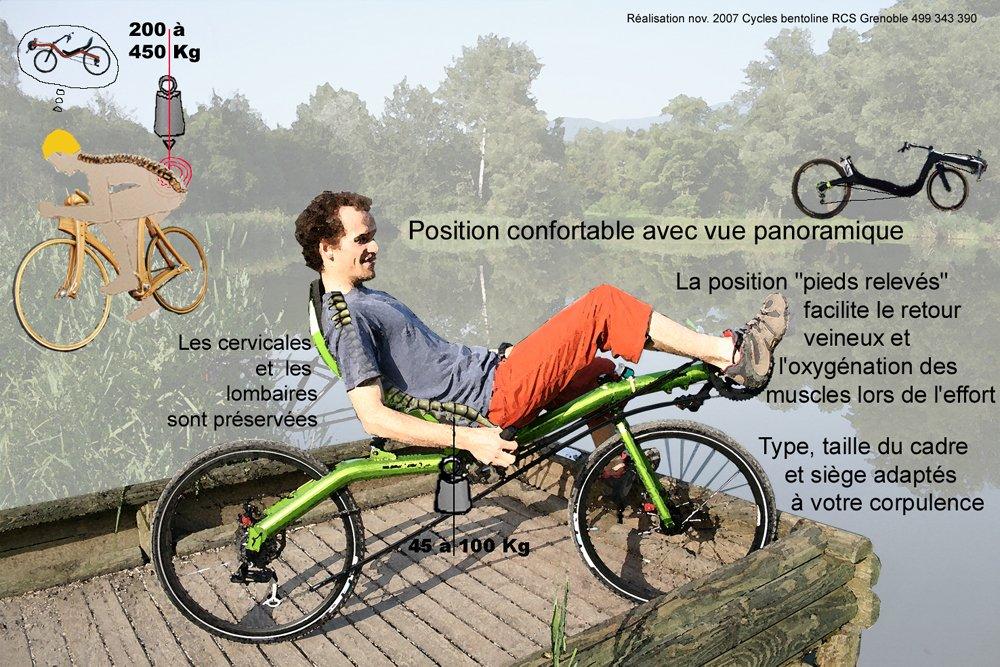Avantages du vélo couché