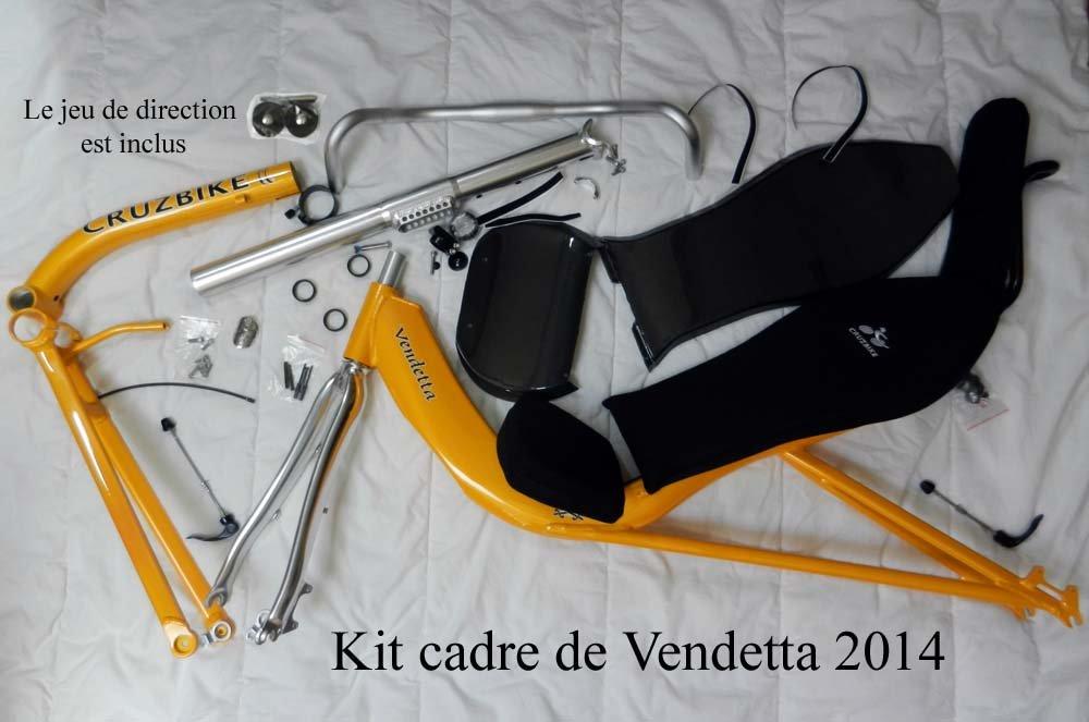 Kit cadre Vendetta 2014 complet avec siège, fourche et jeu de direction