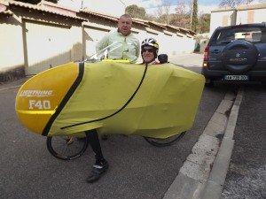 Vélo couché F40 à Montdragon