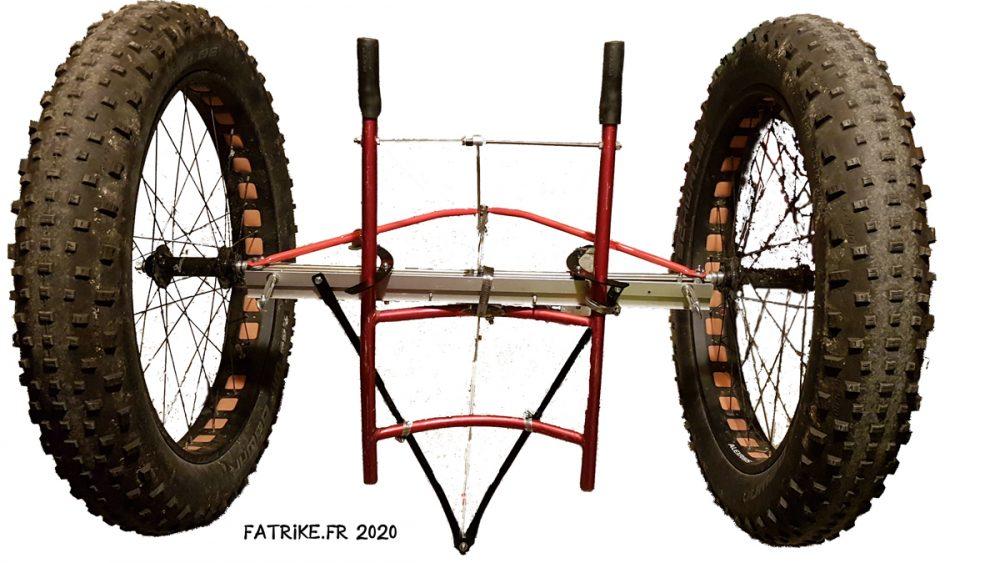 Comment fabriquer un essieu, 2 roues Fat pour transport de charges lourdes.